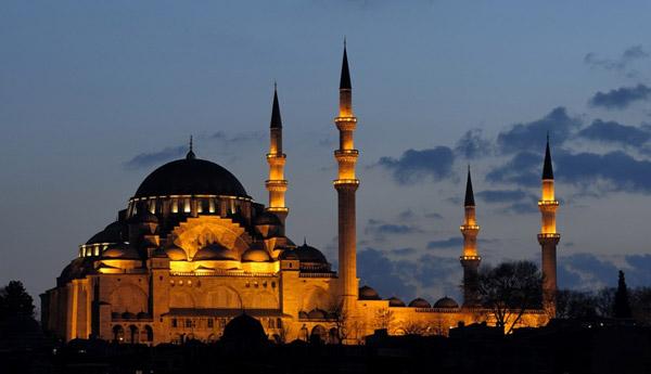 Süleymaniye Camii Gece Görünüş